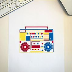#cmykfriday - Every friday I design a cmyk vector object as an icon: today there is a colurful ghetto blaster on my desk! 📻#graphicdesign #design #cmyk #cmykfriday #icon #infographic #ghettoblaster #illustration #print