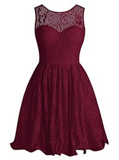 Tideclothes Short Lace Bridesmaid Dress Cute Bowtie Prom Evening Dress Burgundy US8 Tideclothes http://www.amazon.com/dp/B01A0L8ZDC/ref=cm_sw_r_pi_dp_FVh2wb0MPB42P
