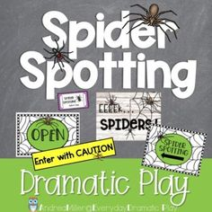 This dramatic play spider spotting set is perfect for your fall dramatic play or Halloween dramatic play area. Preschool, prek, and kindergarten students will love learning all about spiders with this spider inspired dramatic play center. Let them buy tour tickets, search for spiders, and record their findings. The Spider Spotting dramatic play center is a great addition to a fall theme or Halloween theme or study on spiders. Halloween Theme Preschool, Preschool Crafts, Halloween Themes, Dramatic Play Area, Dramatic Play Centers, Spring Theme, Autumn Theme, Play Centre, Early Literacy