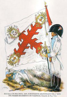Batalla de Belchite 1809 Regimiento de Valencia