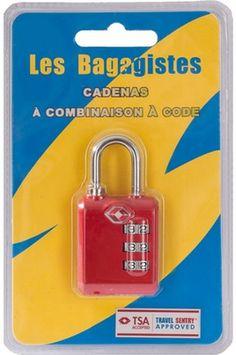 FER / CENTRALE VAPEUR LES BAGAGISTES CADENAS TSA COMBINAISON CODE ROUGE