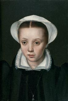 Portrait of a Girl with a white Bonnet, anonymous, Flemish School, 16th Century, oil on panel, 26 x 17,5 cm, Inv. No. 681