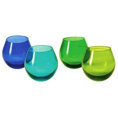 LSA Hula Cool Colours Vodka Glasses 1.8oz / 50ml | Shot Glasses Rocking Glasses LSA Glassware - Buy at drinkstuff
