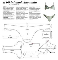 bikini draft sewing pattern - hopefully bikinis will be feasible again one day :) Sewing Patterns Free, Free Sewing, Sewing Tutorials, Sewing Hacks, Sewing Crafts, Sewing Projects, Lingerie Patterns, Sewing Lingerie, Clothing Patterns