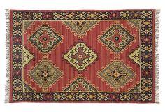 Sara Rug, Red on OneKingsLane.com. Love this style rug.