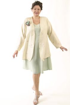 Dressy Jacket Ivory Pastels Embroidered Floral Silk SHOP NOW: Unique jackets for women Sizes 14 - 36 mother of the bride special occasion artwear elegant and unique women's clothingxoPeg Mature Fashion, Fashion Over 50, Plus Size Fashion, Fall Fashion, Fashion Edgy, Fashion Outfits, Womens Fashion, Fashion Brands, Style Fashion