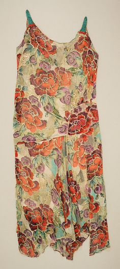 Dress, Worth, 1928-1929. The Metropolitan Museum of Art. #fashion #1920s