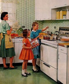 1950s:   mums with well behaved children.  Of course if you were anything else in those days you earned a well deserved spanking with the hairbrush