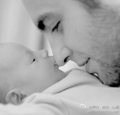 Another cute daddy and baby picture