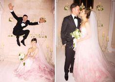 Inspirações de vestidos de noiva rosa #noiva #vestidodenoiva #pink #meucasamentoperfeito #outubrorosa