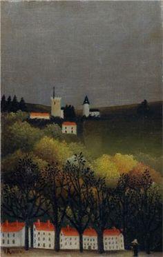Henri Rousseau (1844 - 1910) | Naïve Art (Primitivism) | Landscape - 1886