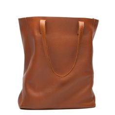 Leather Tote Caramel (Tall)- Leather Tote Caramel (Tall) | Cuyana Shop