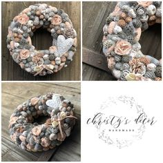Topiary, All Things Christmas, Burlap Wreath, Flower Art, Advent, Dream Catcher, Diy And Crafts, Spring, Handmade