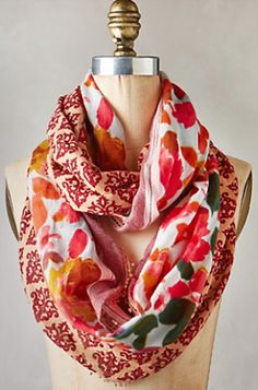beautiful Damask rose infinity scarf #anthrofave http://rstyle.me/n/tmgkrr9te