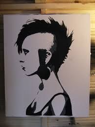 Image result for girl stencil