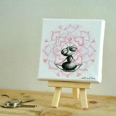CUADRO YOGA LOTO Ants, Yoga, Canvases, Push Gifts, Love Messages, Illustrations, Ant, Yoga Tips, Yoga Sayings