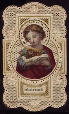 "Vintage prayer card-----""Therefore, you must make a sound and firm resolution to submit yourselves totally to His will and, with a lively and steadfast faith, to receive from Him what you have to do for love of Him."" -- St. Angela Merici"