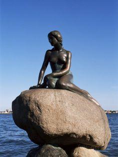 The Little Mermaid, Copenhagen, Denmark Scandinavia Little Mermaid Statue, The Little Mermaid, People Around The World, Around The Worlds, Mermaid Stories, Hans Peter, Destinations, Roadside Attractions, Copenhagen Denmark