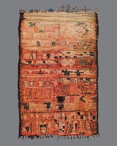 vintage Moroccan rug, Rehamna # RH03