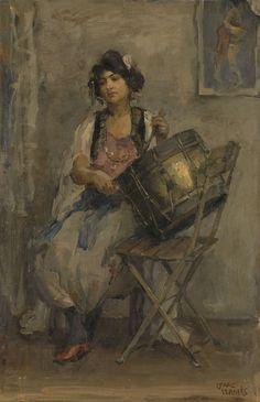 Isaac Israels, 1890 - The Lady Drummer - art print, fine art reproduction, wall art Renoir, Art Prints For Sale, Fine Art Prints, Monet, La Haye, Israel, Dutch Painters, Dutch Artists, Modern Artists