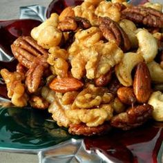 Sweet, Salty, Spicy Party Nuts Recipe {all recipes} Nut Recipes, Snack Recipes, Cooking Recipes, Healthy Recipes, Cooking Ideas, Food Ideas, Paleo Nuts, Spicy Nuts, Party Nuts Recipe