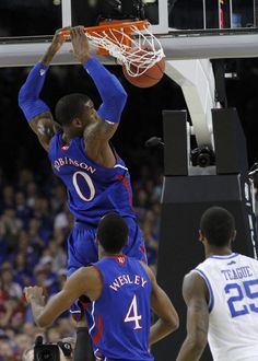 Thomas Robinson, 18 points 17 rebounds during the National Championship game~