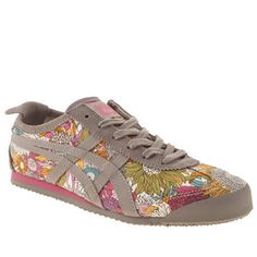 ONITSUKA TIGER MEXICO 66 WOMENS MULTICOLOURED FABRIC SPORTS TRAINERS