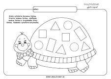 Korytnačka - geometrické tvary Ms, Kids Rugs, Education, Logo, Cute Kittens, Geometry, Logos, Kid Friendly Rugs, Onderwijs