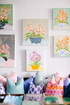 """Painter Lulie Wallace charmed us big time with her new series of acrylic orchids and her oh-so-true mantra: """"The less perfect the subject, the more beautiful the finished product."""""""