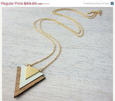 Labor Day Sale 20% Iceland Necklace, geometric signature statement necklace, Scandinavian design