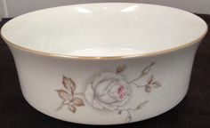 "Johann Haviland ""Sweetheart Rose"" 7 1/2"" Round Vegetable Bowl Bavaria Germany   #JohannHaviland"