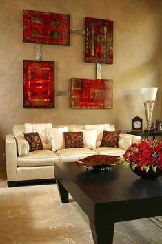 Rot Und Braun Wohnzimmer