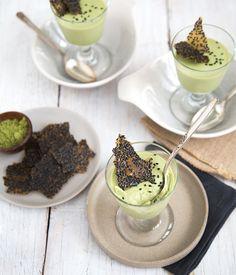 Matcha Green Tea Panna Cotta with Black Sesame Brittle | The Little Epicurean
