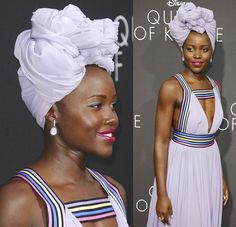 "Lupita Nyong'o at the Film premiere of ""Queen of Katwe"" at the El Capitan Theatre in Hollywood on September 20, 2016"