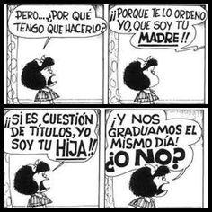 Madres e hijas según Mafalda