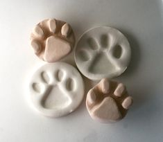 Bisque Stamp Doggie Paw Print Puppy Feet Tool For by Clay Stamps, Polymer Clay Projects, Clay Crafts, Polymer Clay Jewelry, Ceramic Tools, Ceramic Clay, Homemade Stamps, Stamp Carving, Pottery Tools