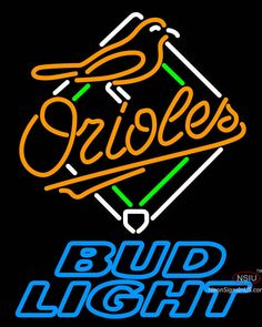 Bud Light Baltimore Orioles MLB Real Neon Glass Tube Neon Sign,Affordable and durable,Made in USA,if you want to get it ,please click the visit button or go to my website,you can get everything neon from us. based in CA USA, free shipping and 1 year warranty , 24/7 service