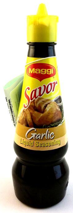 Maggi Savor Garlic Pinoy Food, Juice Bottles, Garlic