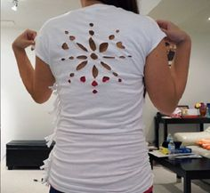 Free template: Snowflake cut out t-shirt