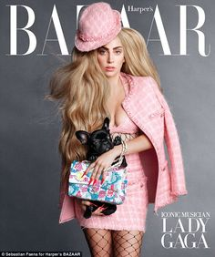 Chanel muse: Lady Gaga posed for Harper's Bazaar with her dog Asia http://dailym.ai/1oeOn4Q