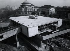 Julius Silver Residence Hall during construction