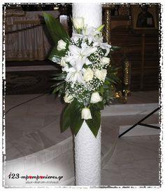 ΣΤΟΛΙΣΜΟΣ ΓΑΜΟΥ ΚΑΙ ΒΑΠΤΙΣΗΣ ΜΑΖΙ - ΚΑΡΟΥΖΕΛ - ΕΥΟΣΜΟΣ - ΚΩΔ: KAR-424 Pew Decorations, Vase, Candles, Design, Home Decor, Homemade Home Decor, Church Pew Decorations, Interior Design