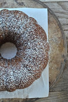 Apple Sauce Spiced Bundt Cake with Chocolate Chips. A tried and true recipe that I've been making for years!  recipe at mountainmamacooks.com