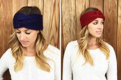 TWIST FRONT HEADWRAP- 5 COLORS!  Chic!  STARTING AT    75% OFF