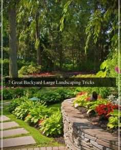 Large backyard landscaping ideas are quite many. However, for you to achieve the best landscaping for a large backyard you need to have a good design. Large Backyard Landscaping, Landscaping With Rocks, Landscaping Tips, Pond Design, Garden Landscape Design, Flagstone Path, Building A Pond, Natural Pond, Backyard Water Feature