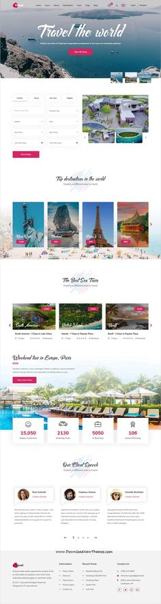Travel is clean and modern design responsive for booking and agency websit Travel Agency Website, Travel Website Design, Travel Design, Travel Tours, New Travel, Travel Box, Web Design, Modern Design, Clean Design