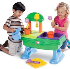 Table Garden Kids Little Tikes Play Outdoor Water Toy Toddler Plant Picnic Sand #LittleTikes