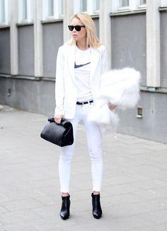 White on white. (by Victoria Törnegren) http://lookbook.nu/look/4519503-White-on-white