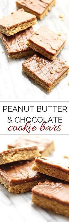 Chocolate Peanute Butter Bars. Cookie bars are my favorite way to do cookies. Still look pretty and yet much easier to make.