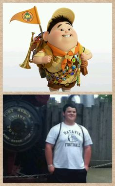 My friend looks just like Russell from up. <3 love you wywywyatt